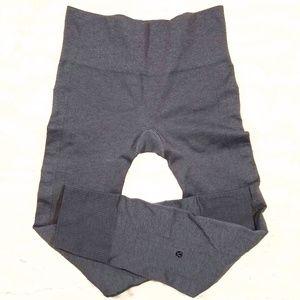 Lululemon gray textured workout pants